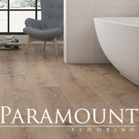 Paramount's RigidCORE is 100% waterproof, scratch and stain resistant and easy to maintain - stop by to see our selection!