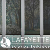 We carry custom window treatments, blinds, & shades from Lafayette Interior Fashions - stop by to see the selection!